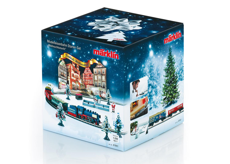 Weihnachts-Startpackung 230 Volt. Güterzug mit Gleisoval und entsprechender Stromversorgung