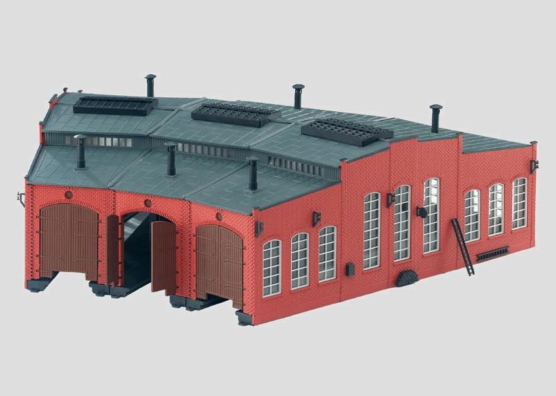 Bausatz Lokomotivschuppen.