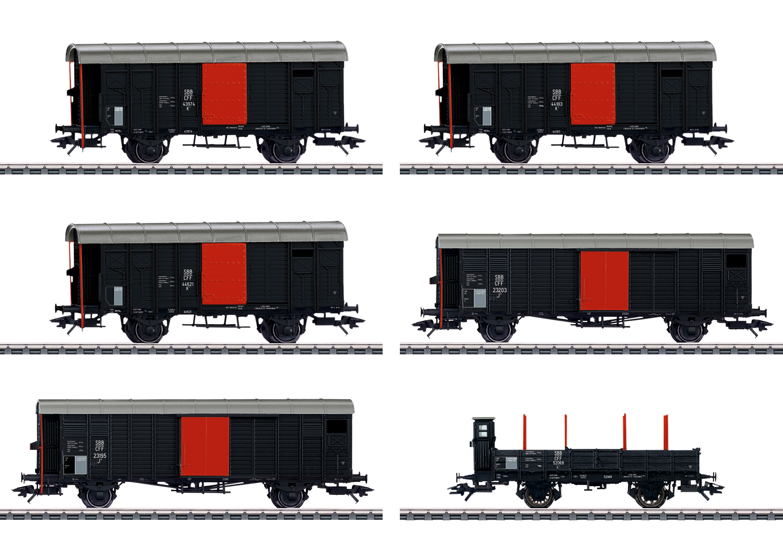 """Güterwagen-Set zum """"Köfferli"""""""