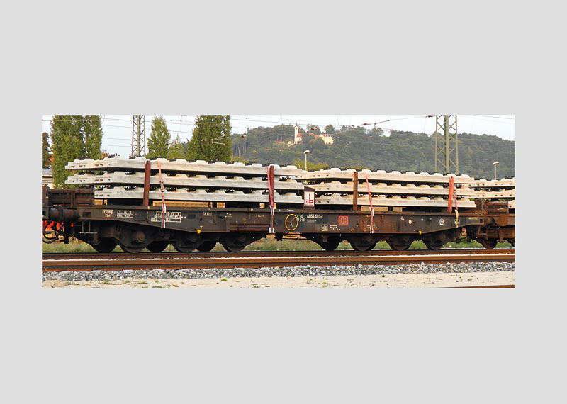 "Type Samms 709 Heavy-Duty Flat Car for ""Permanent Roadway"", DBSR, Era VI."