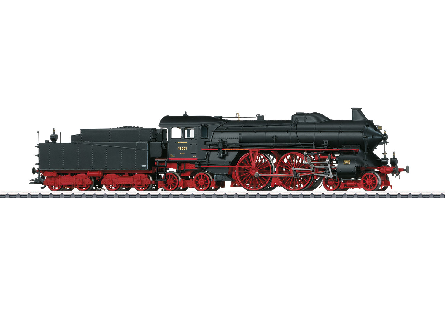 Steam Express Locomotive with a Tender