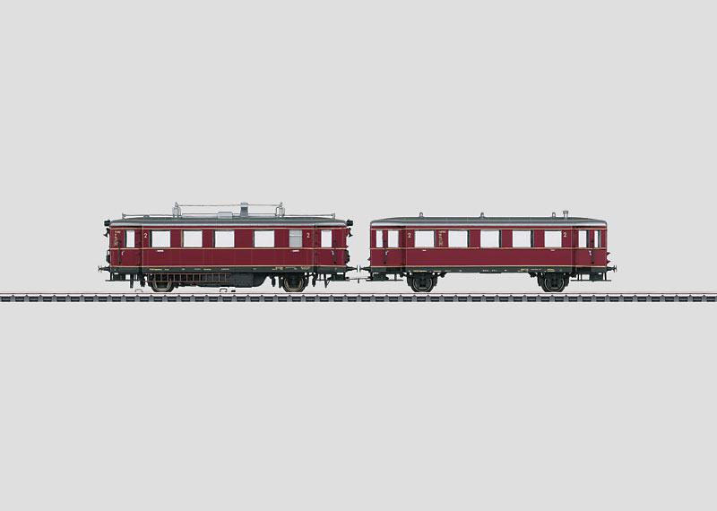Diesel Powered Rail Car with a Trailer Car.