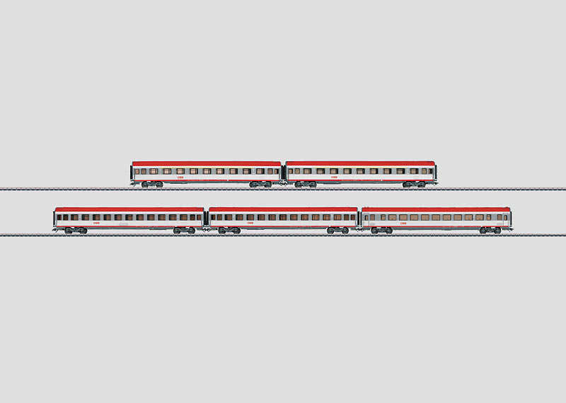 EC-Schnellzugwagen-Set