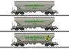 Güterwagen-Set Getreidesilowagen