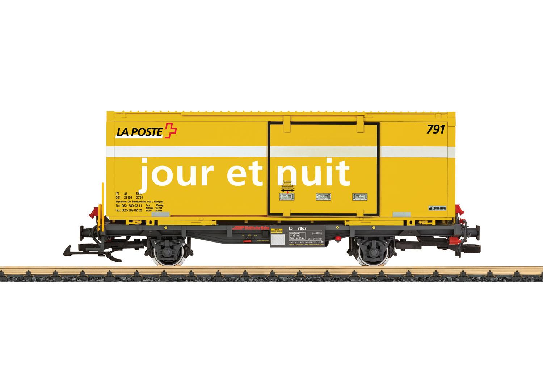 """RhB Containertragwagen """"La Poste"""""""