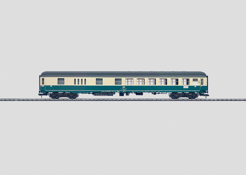 Express Train Passenger Car with a Baggage Compartment.