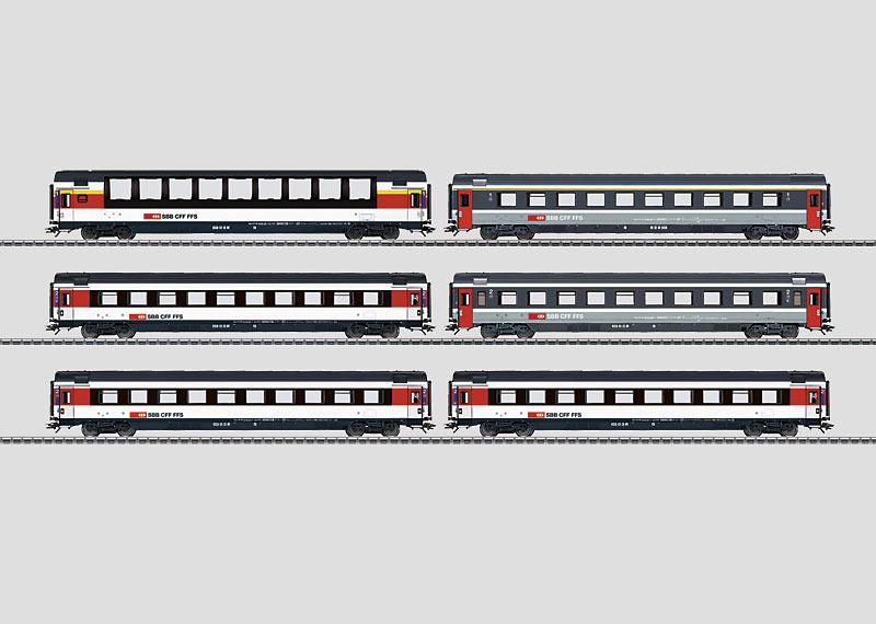 EuroCity Express Train Passenger Car Set.