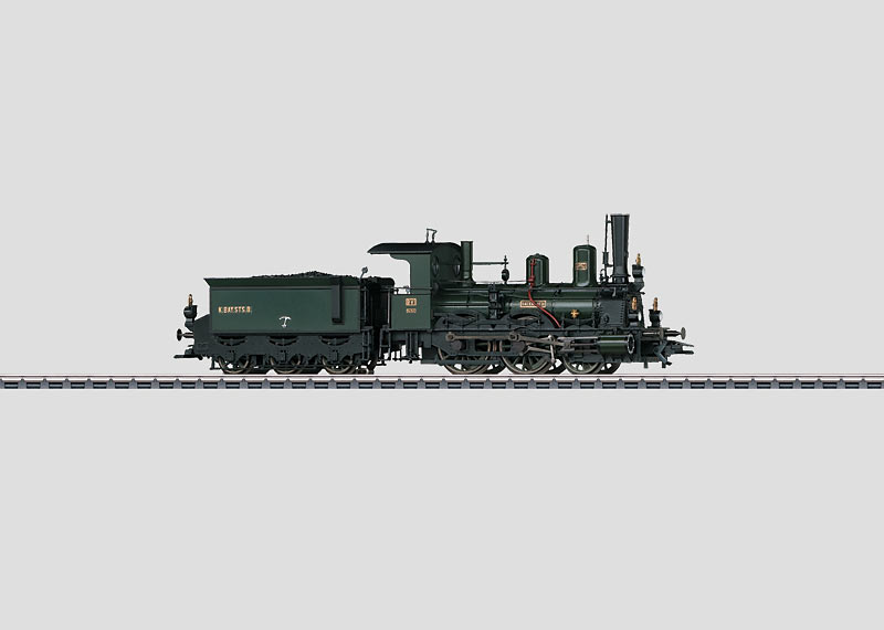 Steam Locomotive with a Tender.
