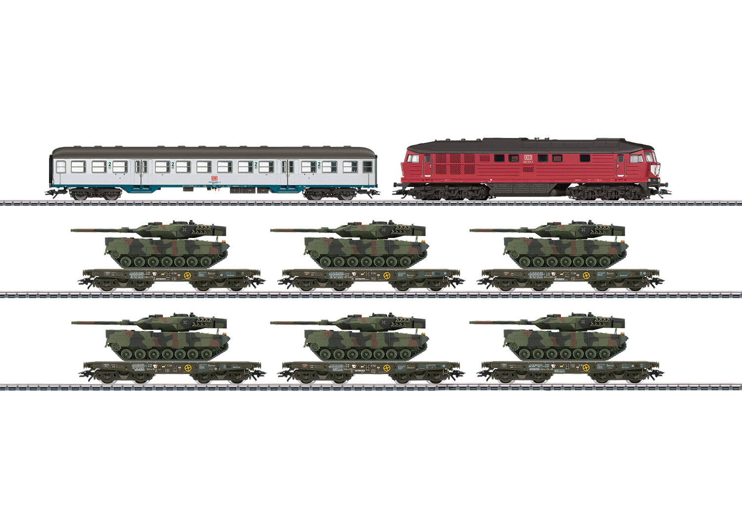 Freight Train with Military Freight for the German Federal Army