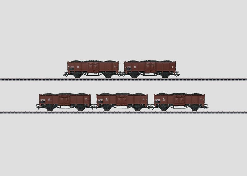Set mit 5 Güterwagen.