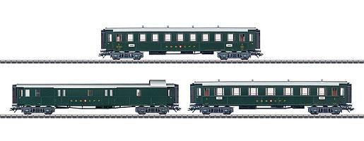 Trois voitures voyageurs