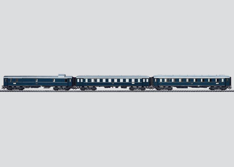 Express Train Passenger Car Set.