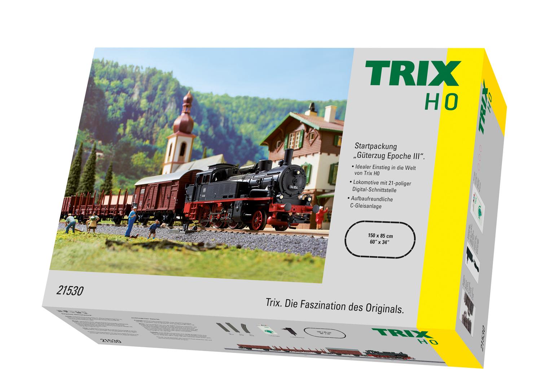 Epoche III NEU Trix H0 21530-4 Gedeckter Güterwagen G 20 der DB