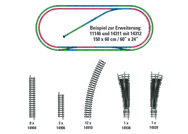 Gleis-Ergänzungs-Set H2