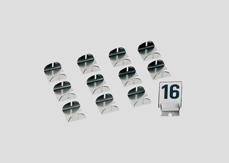 Nummerbordengarnituur.