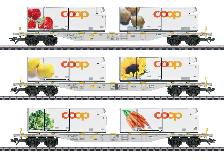 """Coop"" Container Flat Car Set"