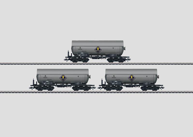 Druckgas-Kesselwagen-Set.