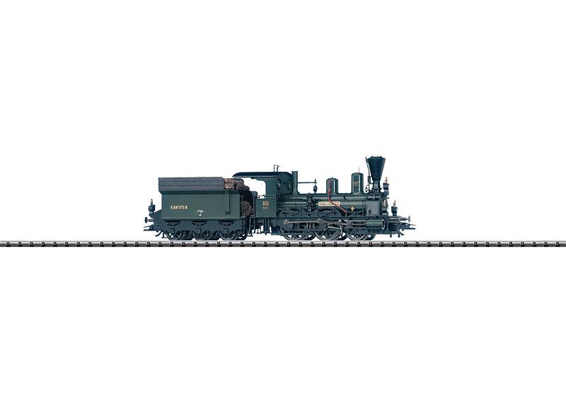 Oldtimer-Dampflokomotive.