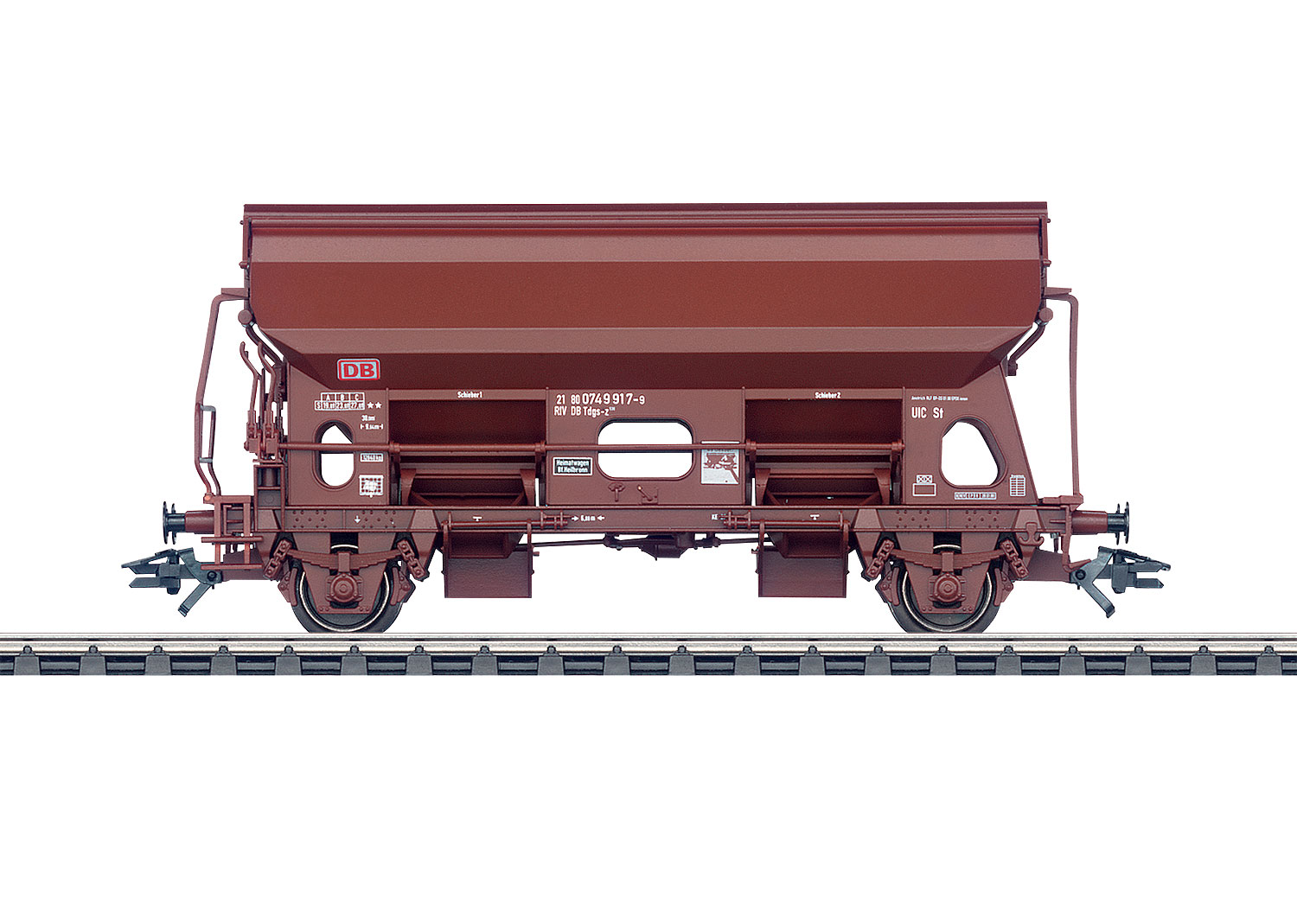 Hopper Car with Hinged Roof