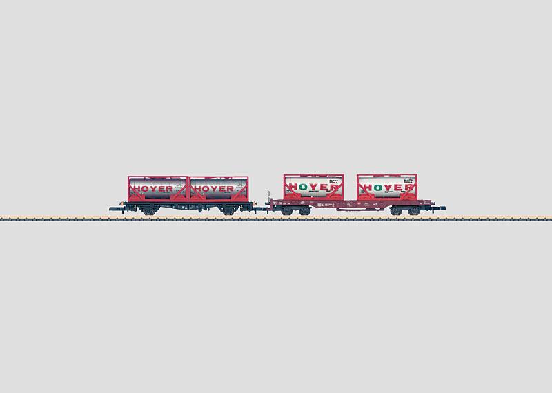 Set mit 2 Containerwagen.