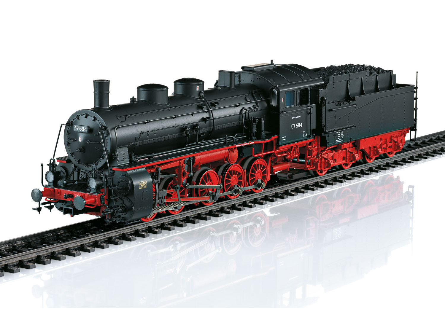 Freight Steam Locomotive with a Tender
