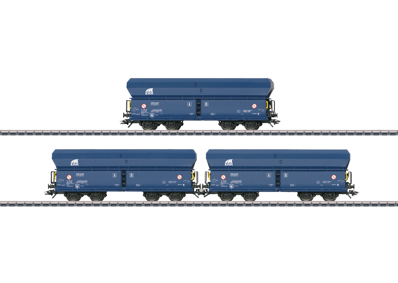 Three Type Falns Hopper Cars