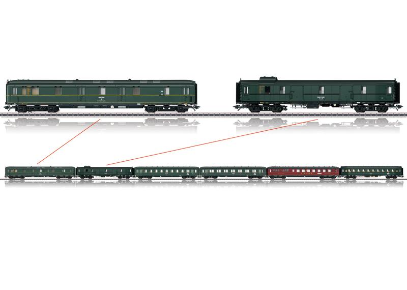 D 12 Berlin – Stuttgart Express Train Passenger Car Set.