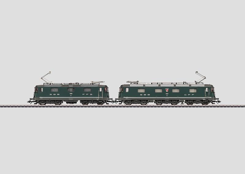 """""""Re 10/10"""" Electric Locomotive Double Motive Power Consist."""