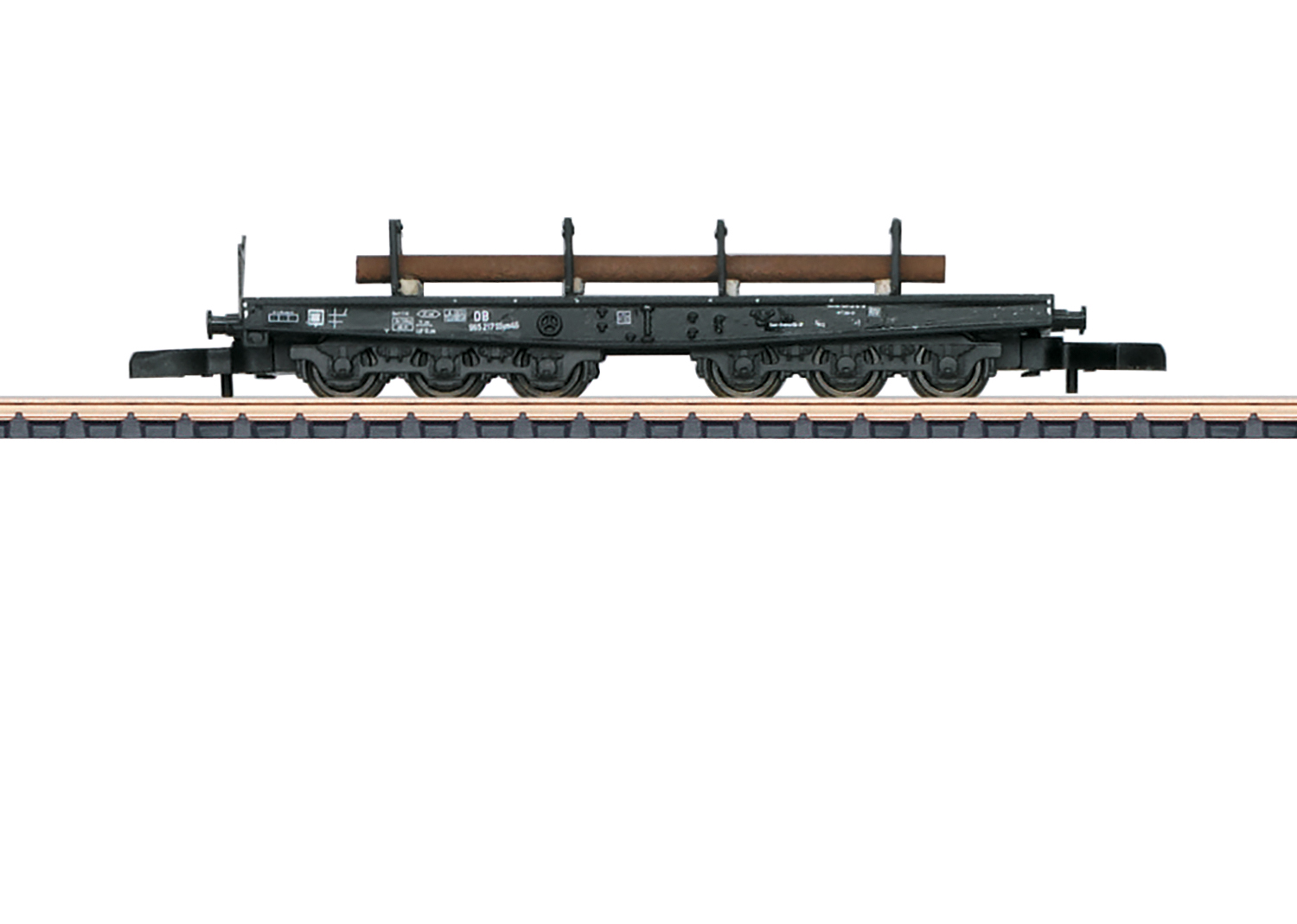 Type SSym 46 Heavy-Duty Flat Car with a Load of Round Shapes