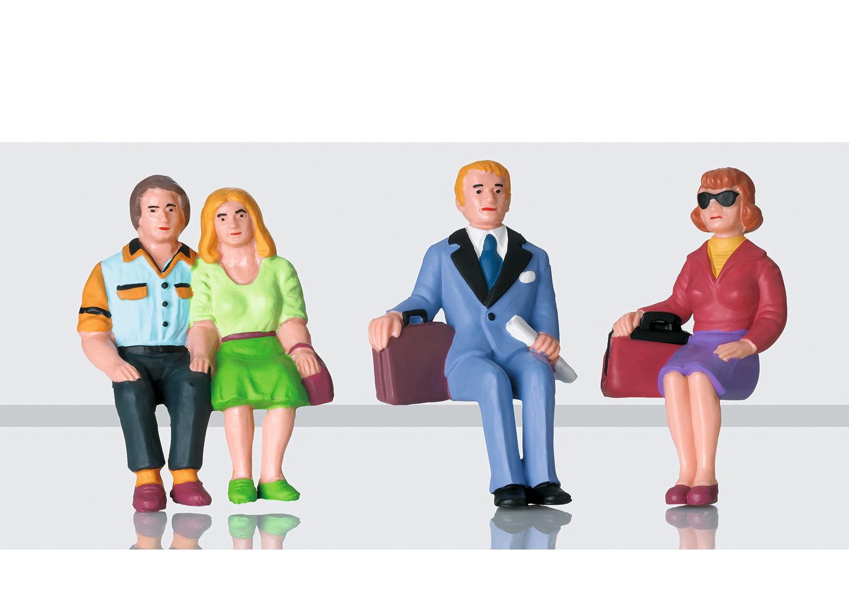 Set of Seated Passenger Figures