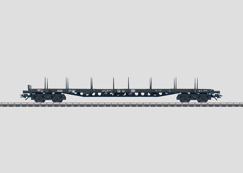 Flat Car with Stakes.