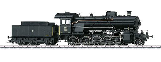 """Dampflokomotive mit Schlepptender Serie C 5/6 """"Elefant"""""""