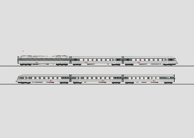"""Gray Mouse"" Powered Rail Car Train."