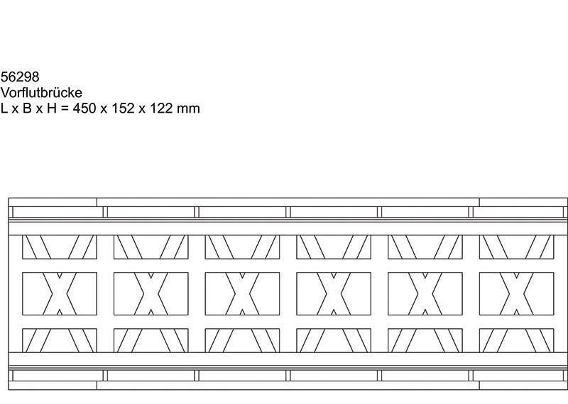 Bouwdoos kanaalbrug met enkelspoor