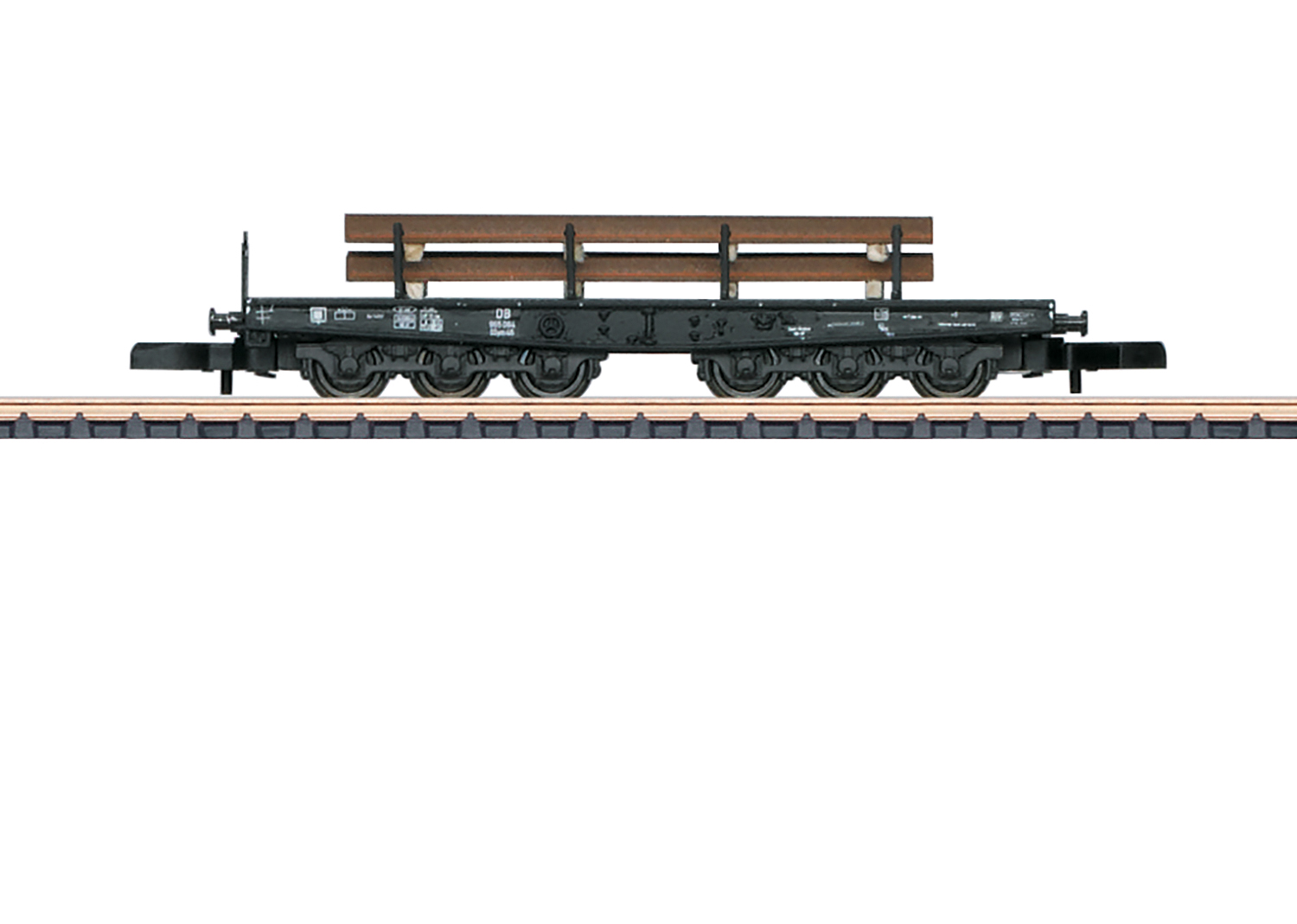 Type SSym 46 Heavy-Duty Flat Car with a Load of T Shapes