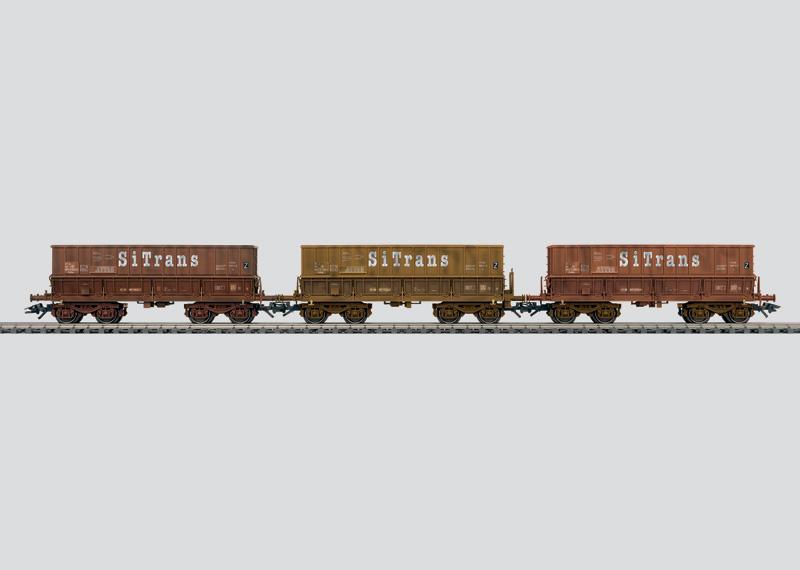 Set wagens - 3 ertstransporters.