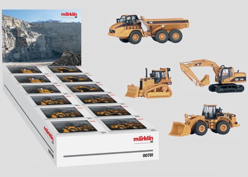 Verkaufspaket Caterpillar Baufahrzeuge H0.