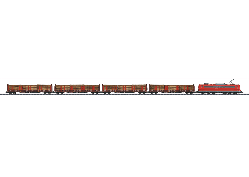Lumber Transport Train Set