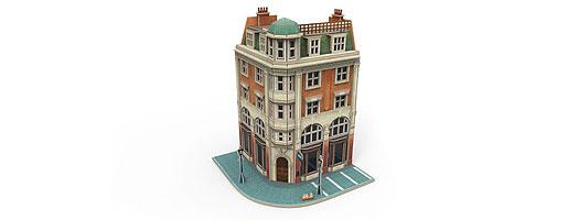 """Märklin Start up - Puzzle bâtiment 3D """"Maison d'angle avec banque"""""""