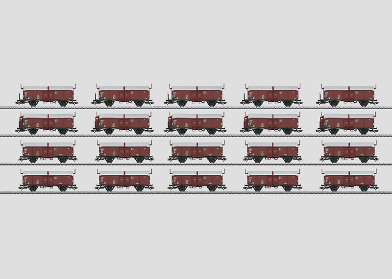 Display with 20 Type Kmmks 51 Freight Cars.