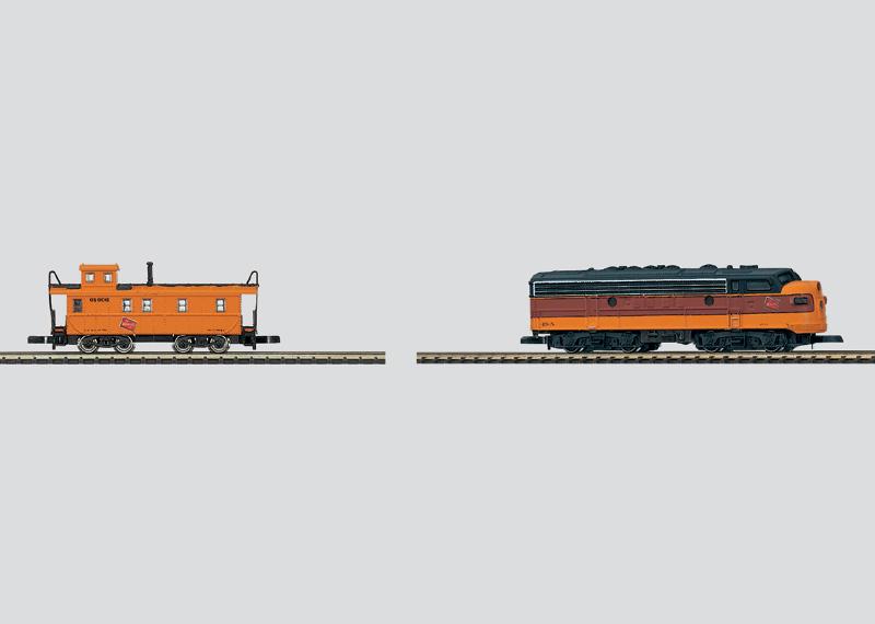 Dieselelektrische Lokomotive mit Güterzug-Begleitwagen