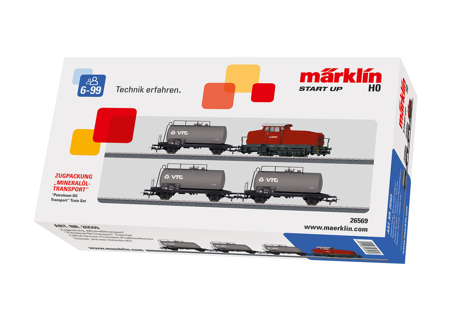 "Märklin Start up - Zugpackung ""Mineralöltransport"""