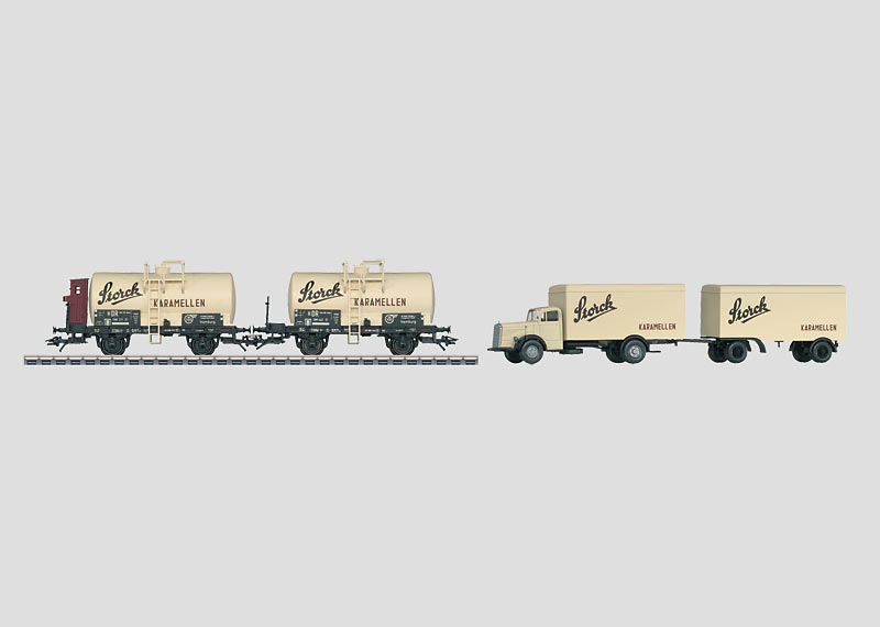 Tank Car Set and Truck.