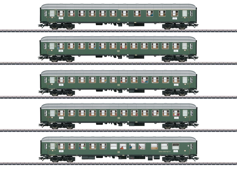 """D96 Isar-Rhône"" Express Train Passenger Car Set 1"
