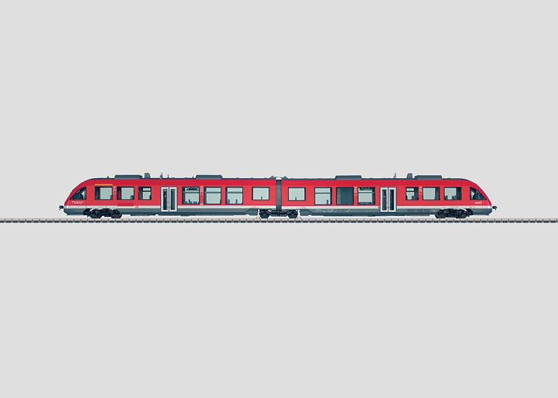 Diesel Powered Commuter Rail Car.