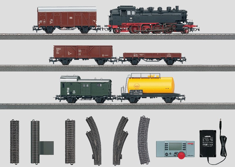 Steam Locomotive Digital Starter Set  Freight Train with a Large C