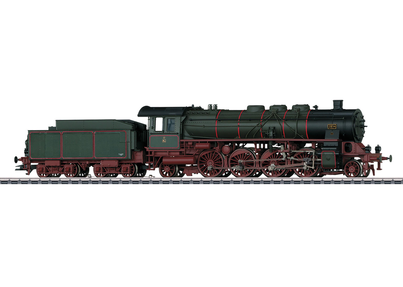 Personenzug-Dampflokomotive mit Schlepptender