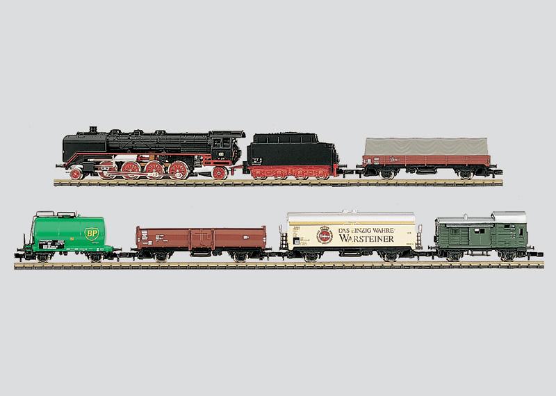 Güterzug-Startpackung mit Gleisanlage und Fahrgerät