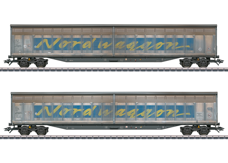 "Set schuifwandwagens ""Transwaggon"""
