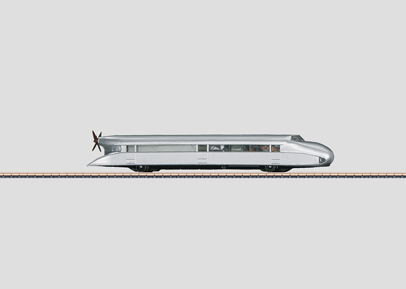 Rail Zeppelin Propeller-Powered Rail Car.